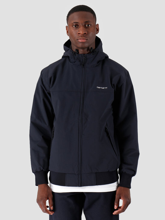 Carhartt WIP Hooded Sail Jacket Dark Navy White I022721