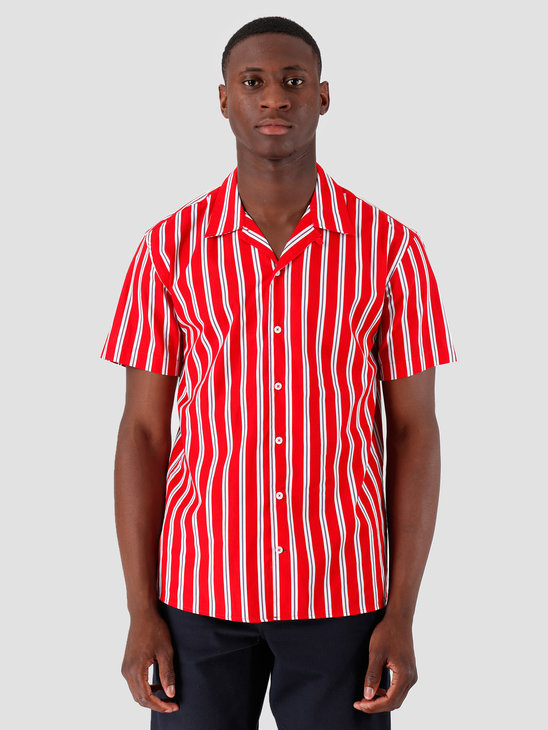 Kronstadt Cuba Short Sleeve Shirt GR.81 Red White Blue KS2662