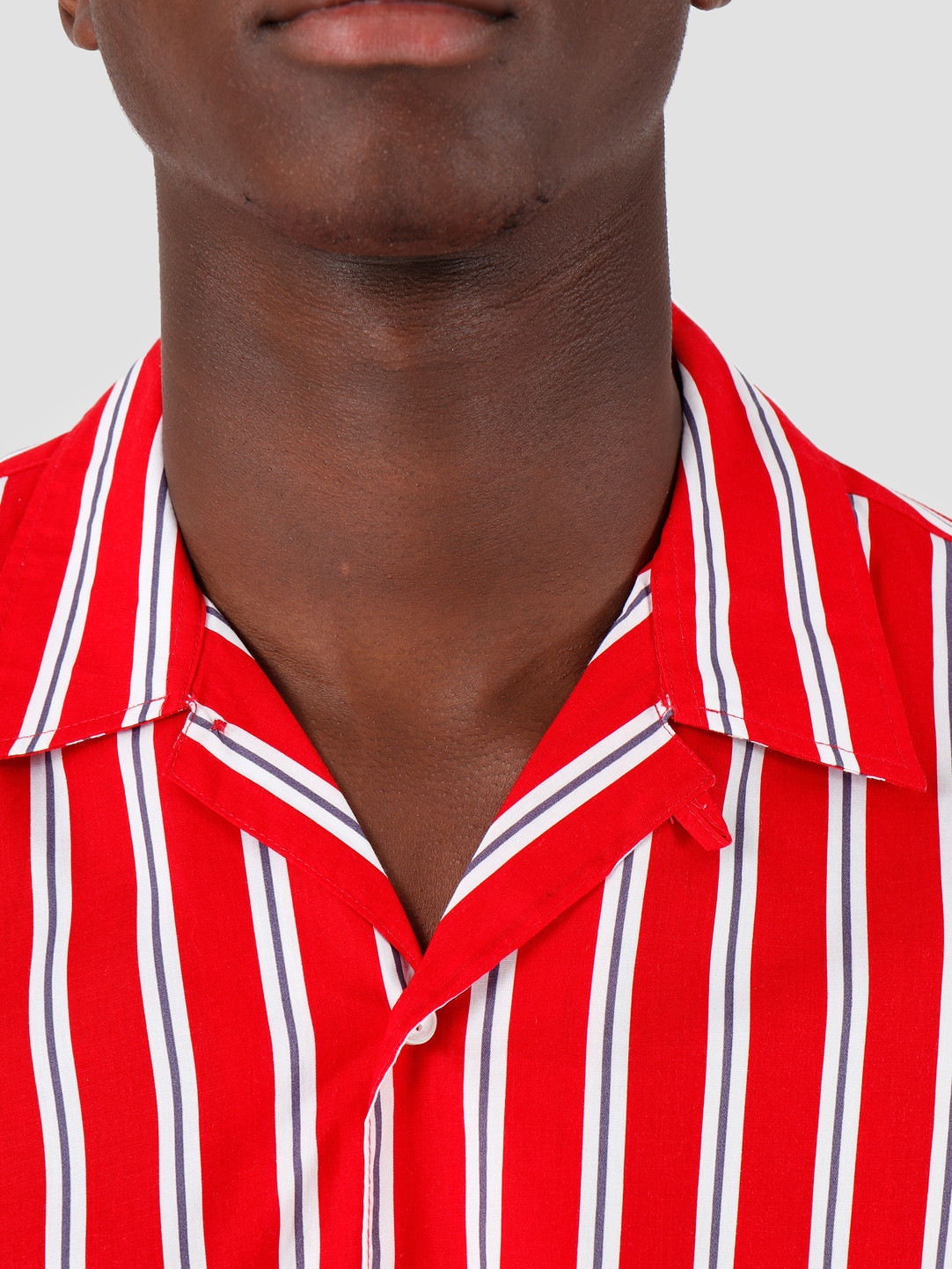 Kronstadt Kronstadt Cuba Short Sleeve Shirt GR.81 Red White Blue KS2662