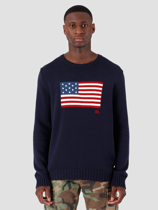 Polo Ralph Lauren Longsleeve Flag Sweater Navy 710718281001