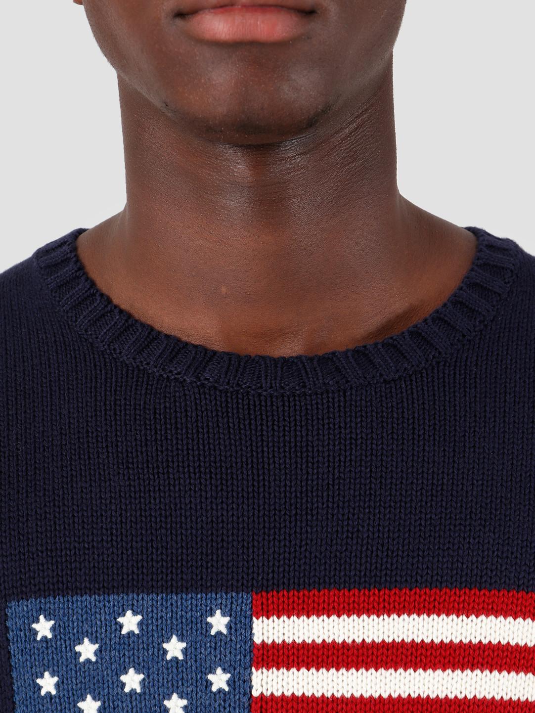 Polo Ralph Lauren Longsleeve Flag Sweater Navy 710718281001