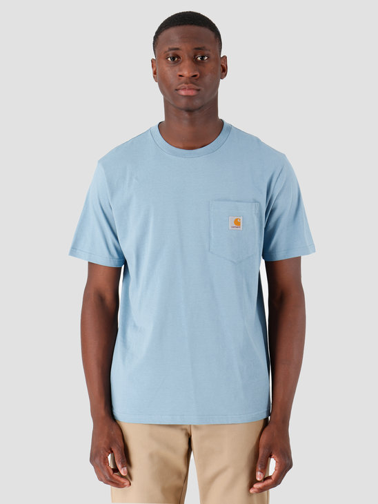 Carhartt WIP Pocket T Shirt Cold Blue I022091