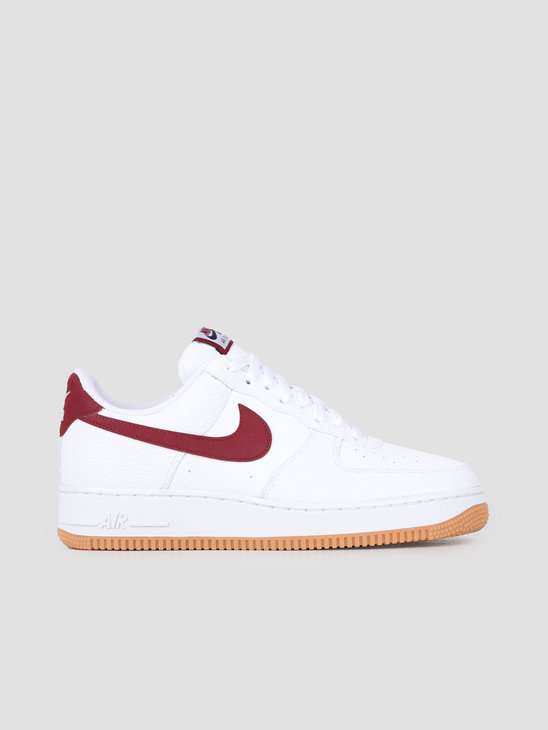 Nike Air Force 1 07 2 White Team Red Blue Void Gum Med Brown CI0057-101