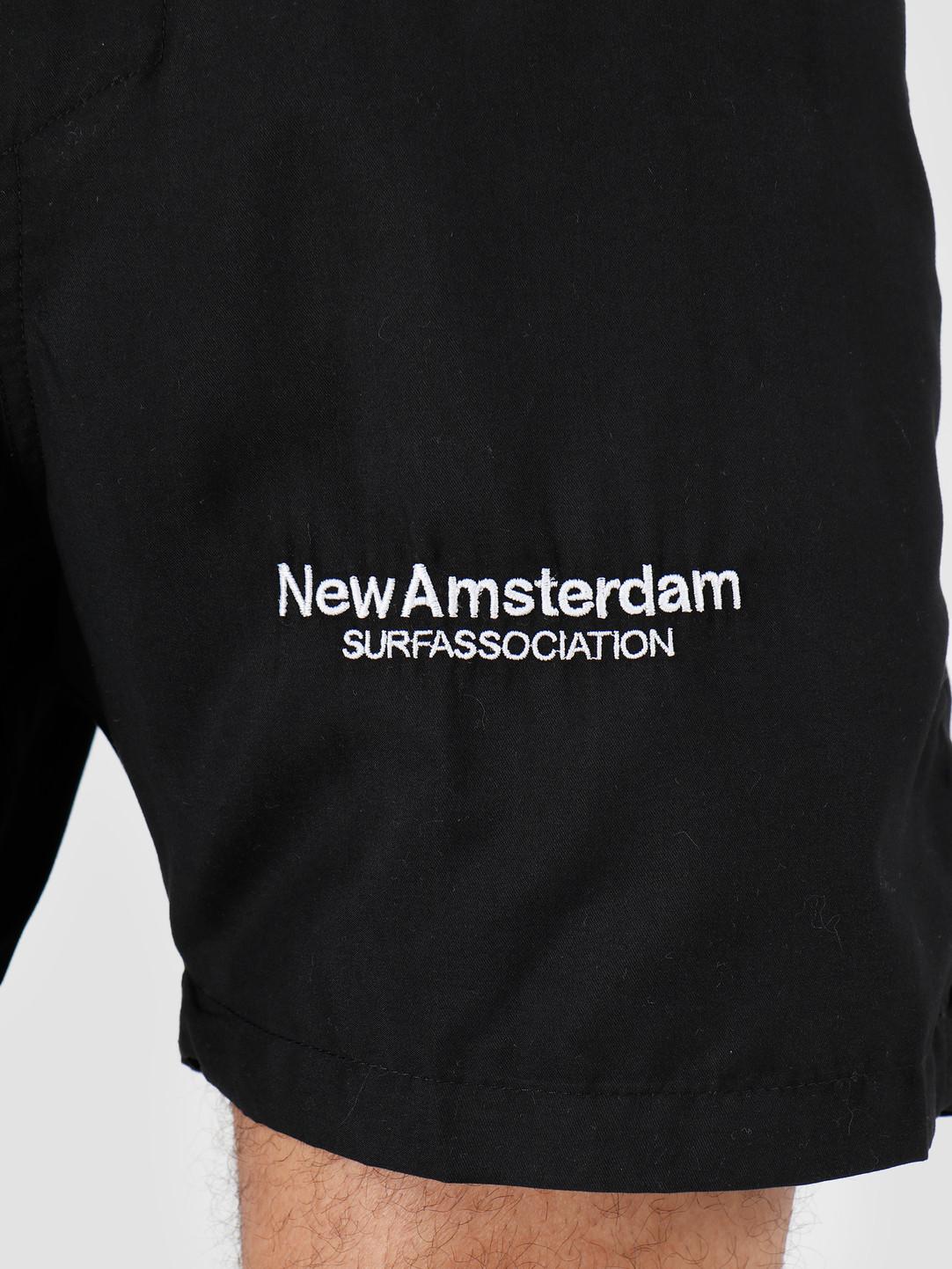 New Amsterdam Surf association New Amsterdam Surf association Logo Swimshort Black 2018017