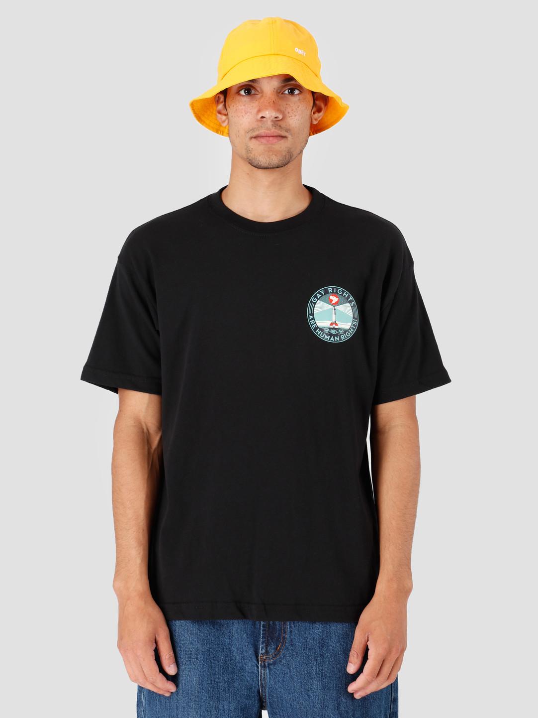 Obey Obey Fire Island T-Shirt Black 167292167-BLK