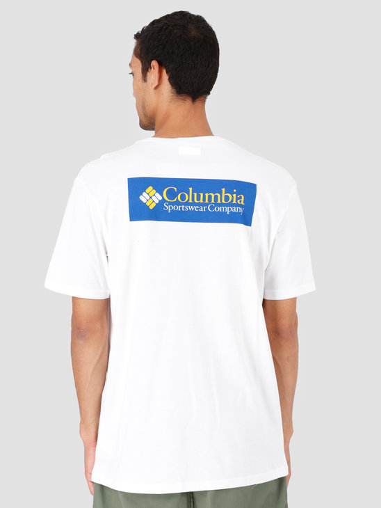 Columbia North Cascades T-Shirt White Azul White Azul 1834041106