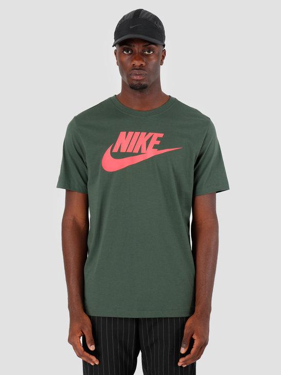 Nike NSW T-Shirt Icon Futura Galactic Jade Eber Glow AR5004-370