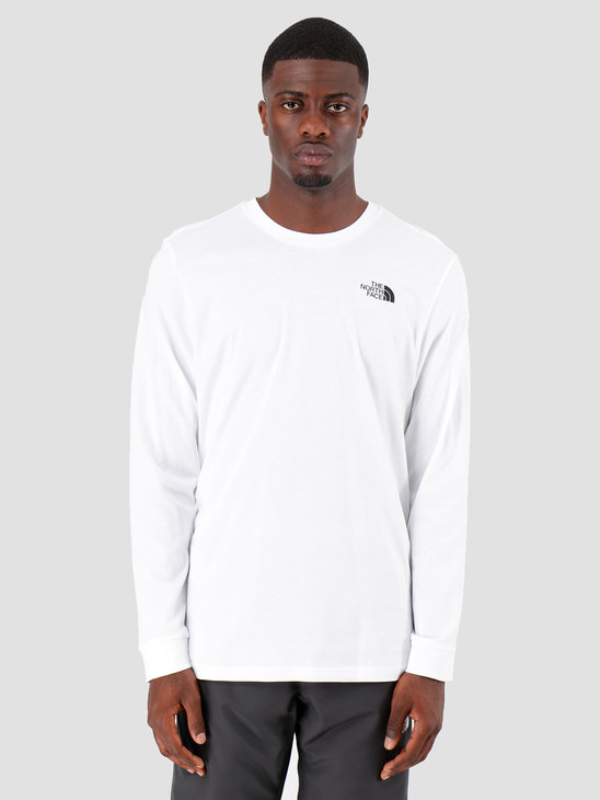 The North Face Longsleeve Simple Dome White T93L3BFN4