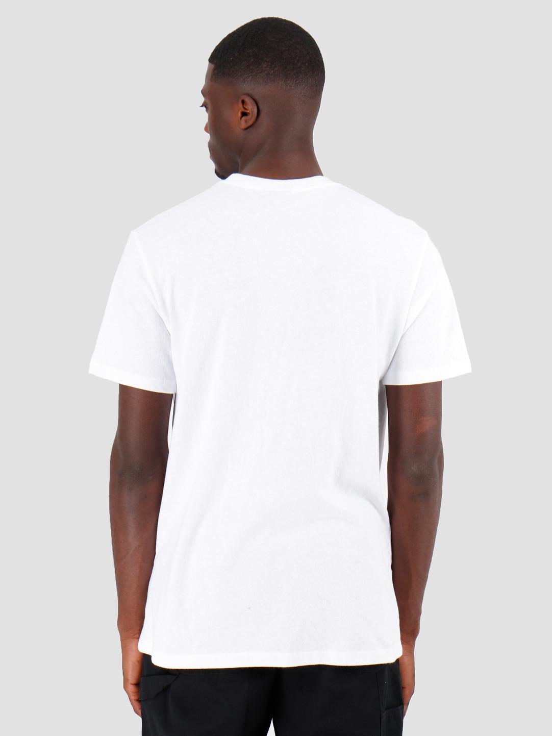 HUF HUF Semitropic Shortsleeve Pocket White TS00711