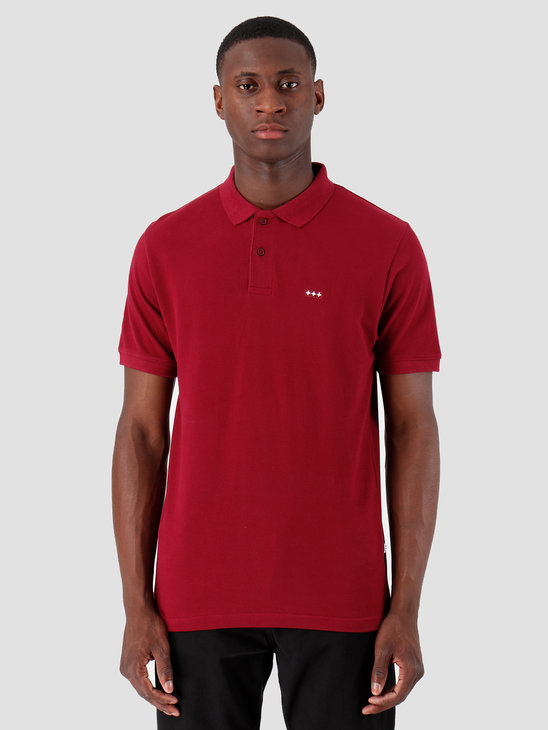 Quality Blanks QB50 Polo Burgundy Red