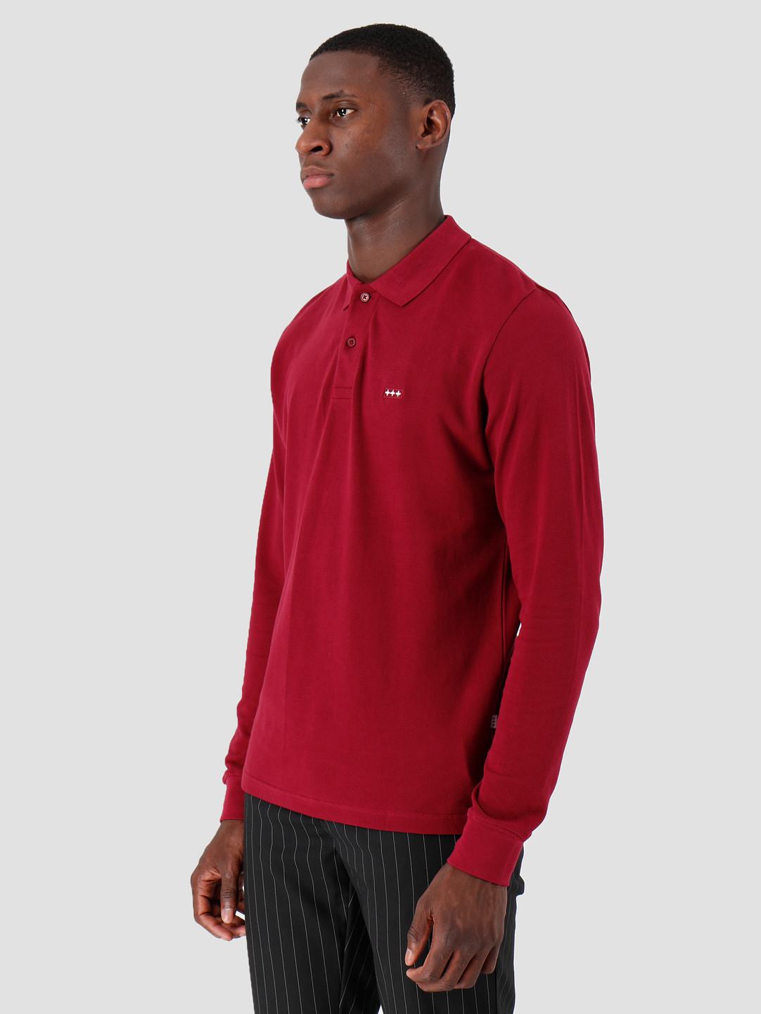 Quality Blanks Quality Blanks QB51 Longsleeve Polo Burgundy Red
