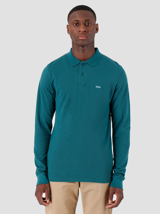 Quality Blanks QB51 Longsleeve Polo Dark Teal