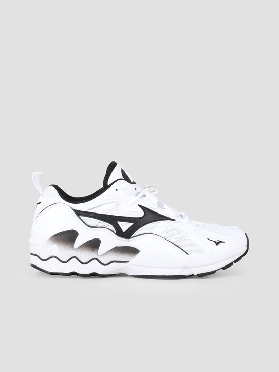 Mizuno Wave Rider 1 White Black D1GA192701