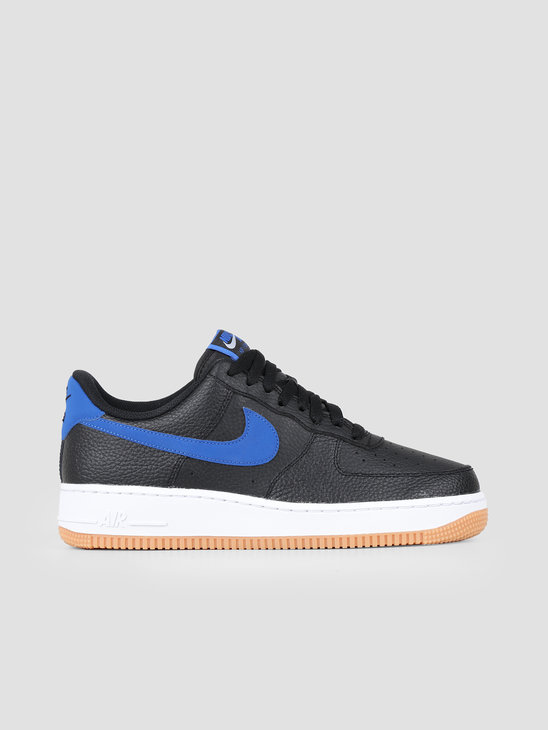 Nike Air Force 1 07 2 Black Game Royal White Gum Med Brown CI0057-001