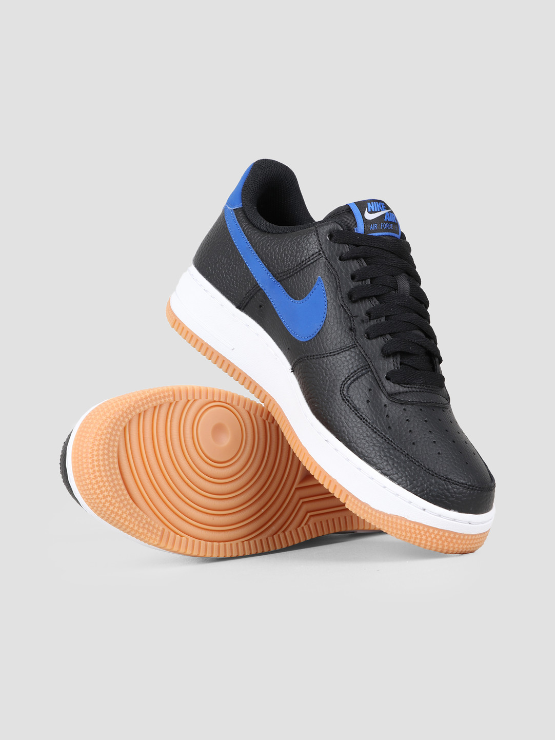 Nike Air Force 1 07 2 Black Game Royal White Gum Med Brown CI0057 001