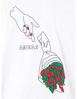 adidas adidas Manolesaliast T-Shirt White Black Scarle EC7354