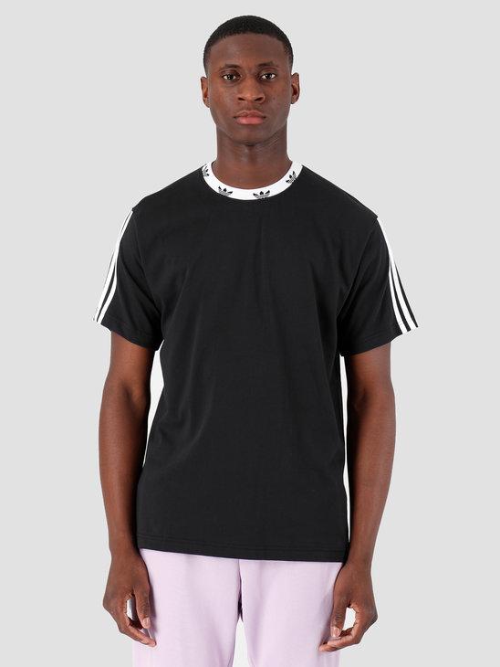adidas Trefoil Rib T-Shirt Black White ED5609