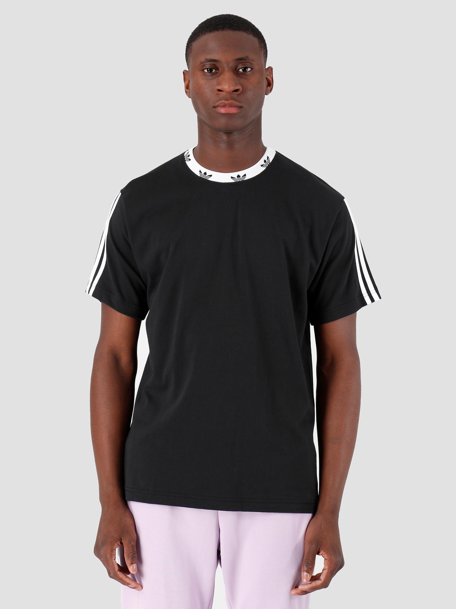 adidas adidas Trefoil Rib T-Shirt Black White ED5609
