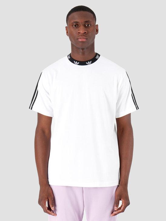 adidas Trefoil Rib T-Shirt White Black ED5612