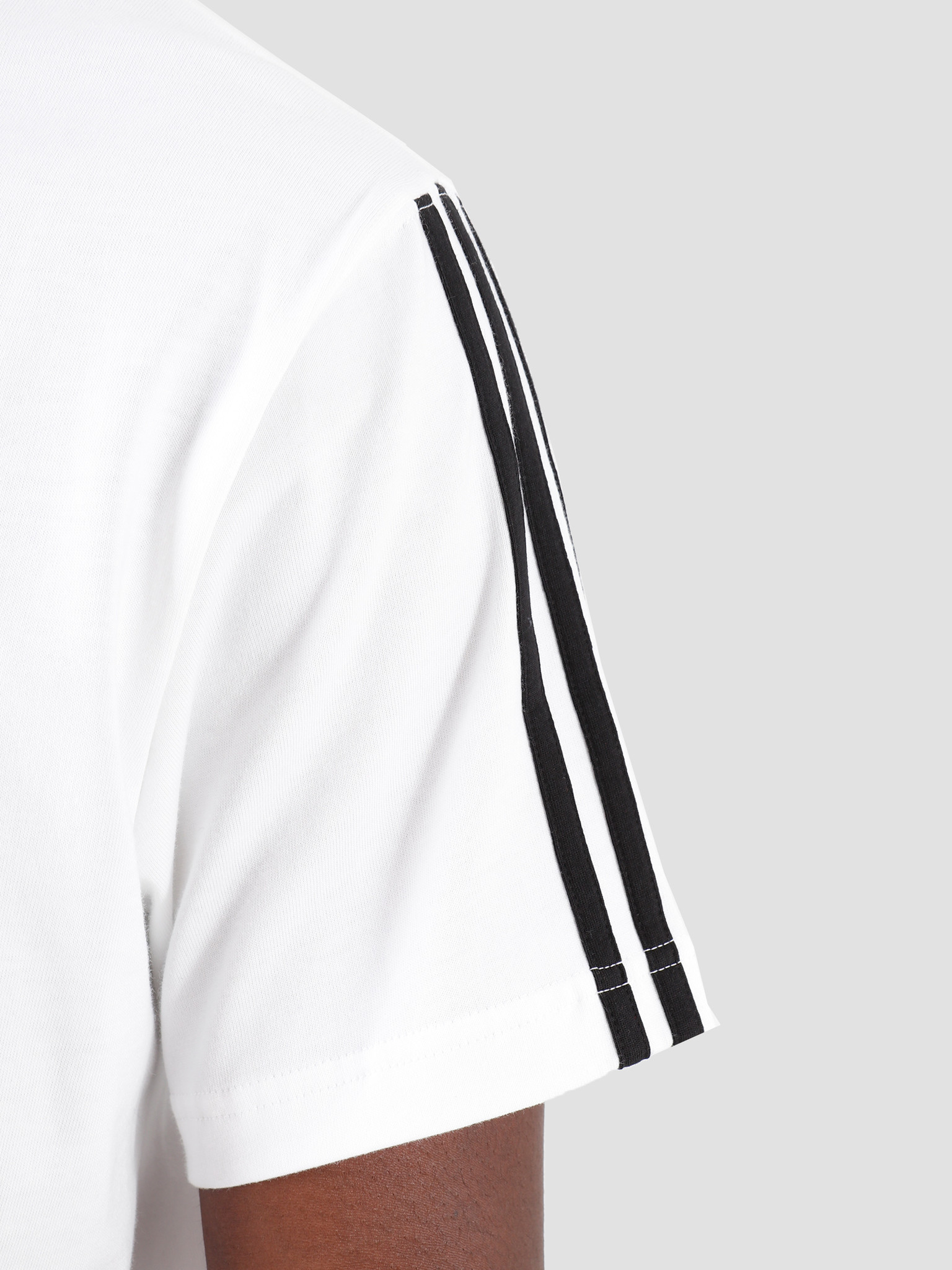 adidas adidas Trefoil Rib T-Shirt White Black ED5612