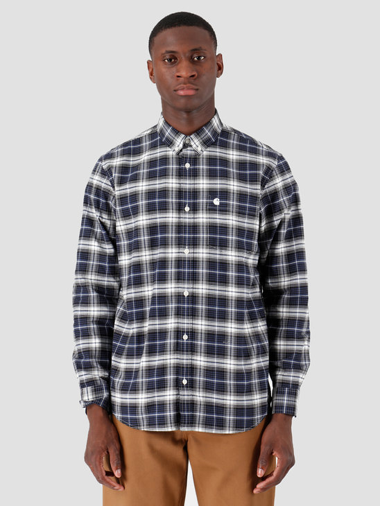 Carhartt WIP Longsleeve Linville Shirt Linville Check Blue Wax I026801
