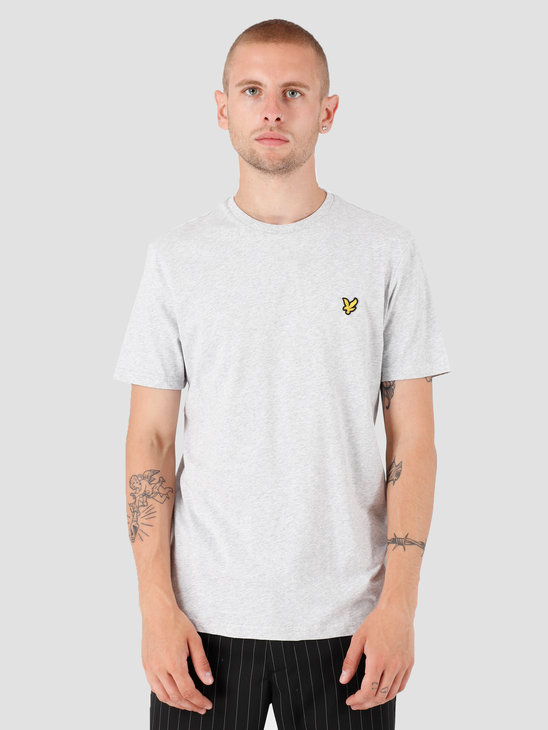 Lyle and Scott Crew Neck T-Shirt Light Grey Marl TS400V