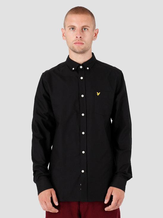 Lyle and Scott Oxford Shirt 572 True Black LW614VTR