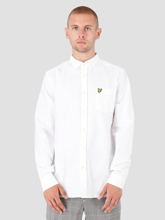 Lyle and Scott Oxford Shirt 626 White LW614VTR