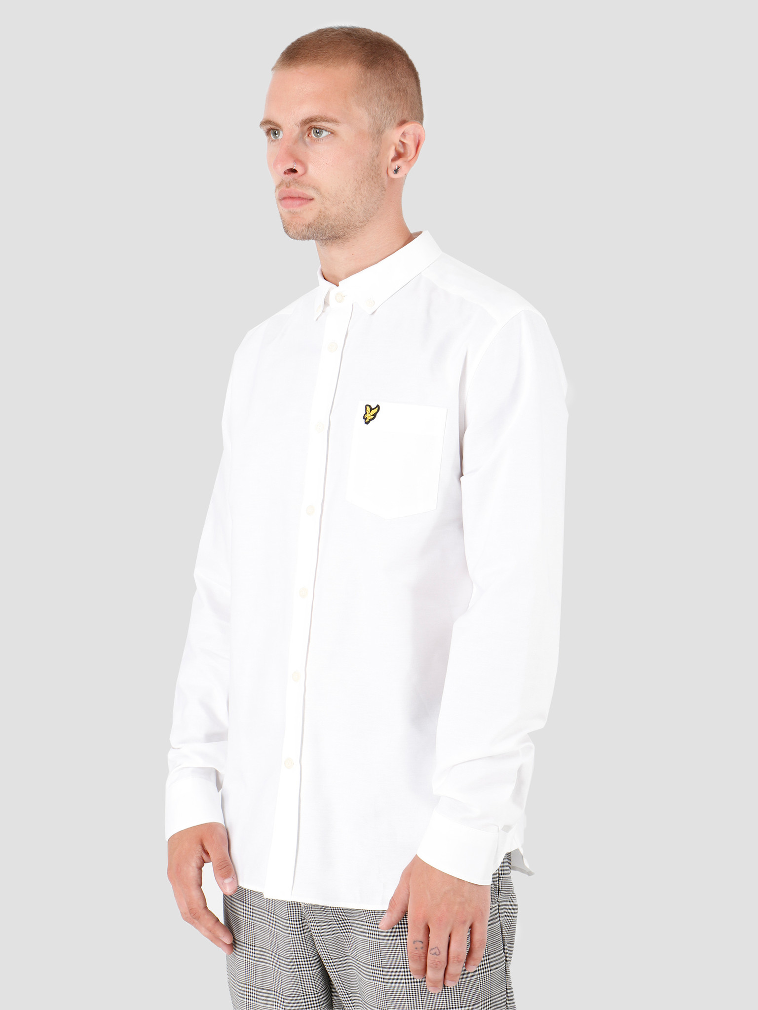 Lyle and Scott Lyle and Scott Oxford Shirt 626 White LW614VTR