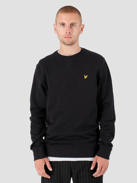 Lyle and Scott Crew Neck Sweatshirt 572 True Black ML424VTR