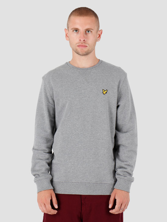 Lyle and Scott Crew Neck Sweatshirt T28 Mid Grey Marl ML424VTR