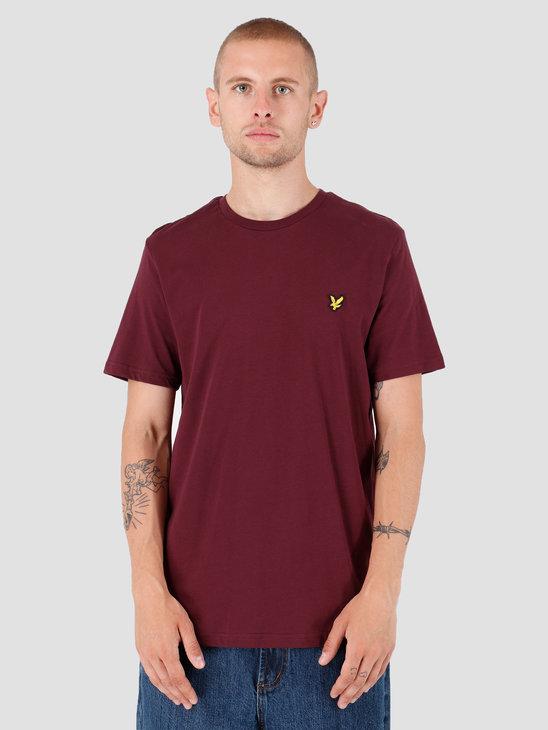 Lyle and Scott T-Shirt 865 Burgundy TS400V