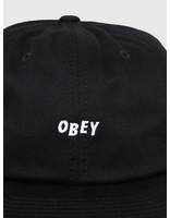 Obey Obey Jumbled 6 Panel Strapback Black 100580200-BLK