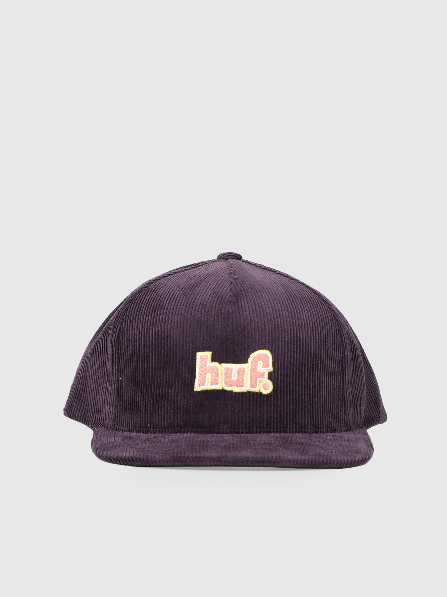 HUF HUF 1993 Logo Snapback Hat Purple Velvet HT00395-PRPLV