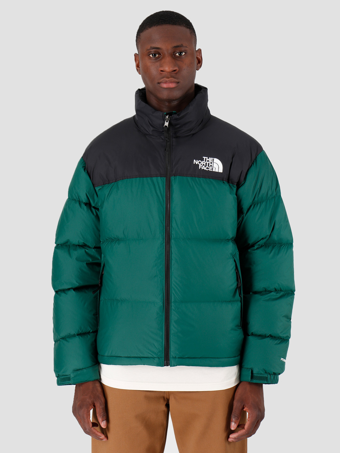 e3a53c910 The North Face 1996 Retro Nuptse Jacket Night Green T93C8DN3P