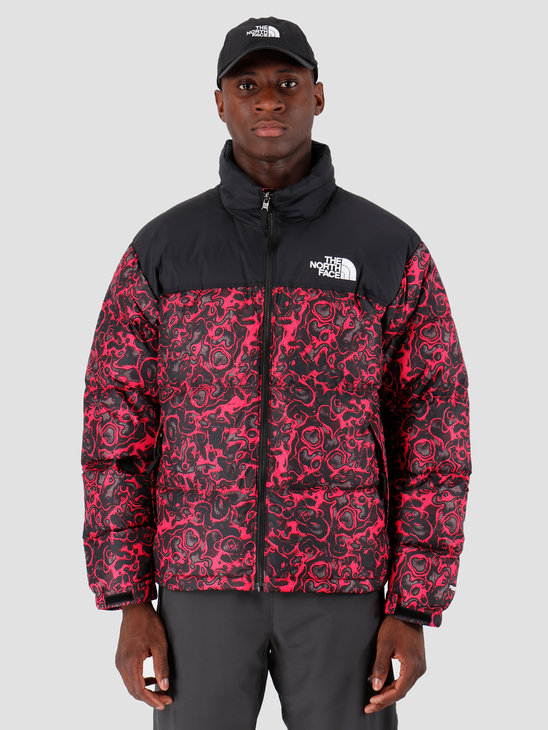 The North Face 1996 Retro Nuptse Jacket Rose Red 1994 Rage Print T93C8DF26