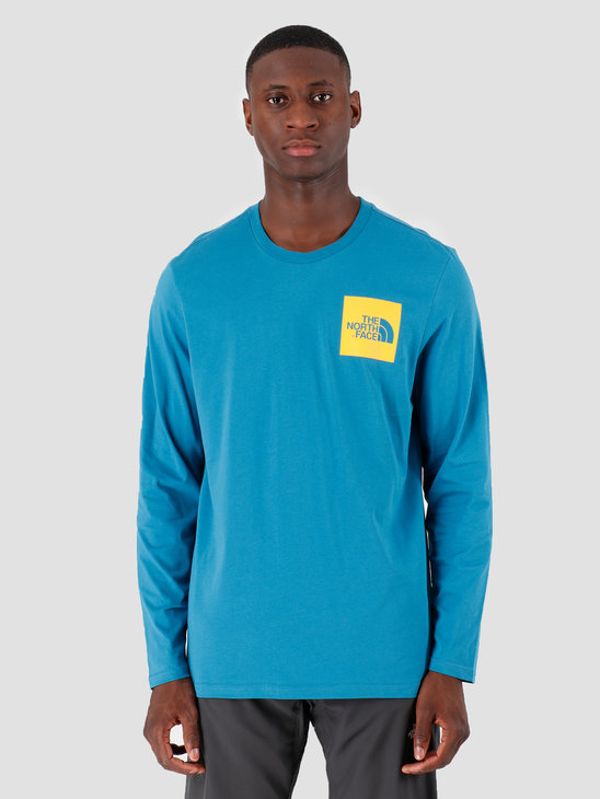 The North Face Longsleeve Fine Saxony Bluecitrus Yellow T937FTNS3