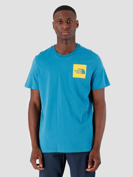 The North Face T-Shirt Fine Saxony Bluecitrus Yellow T0CEQ5NS3