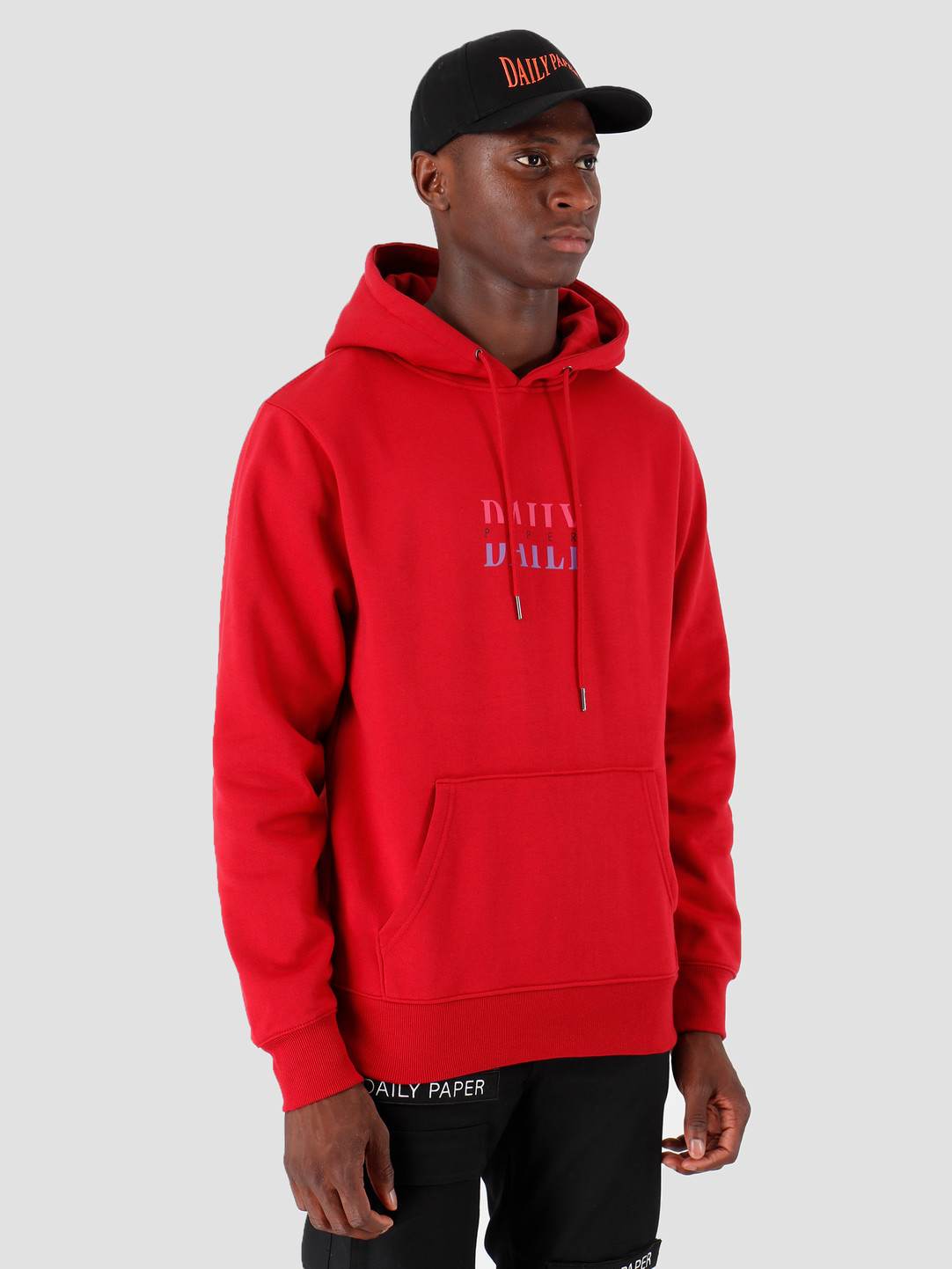 Daily Paper Daily Paper Gario Hoodie Rio Red 19F1HD07-01