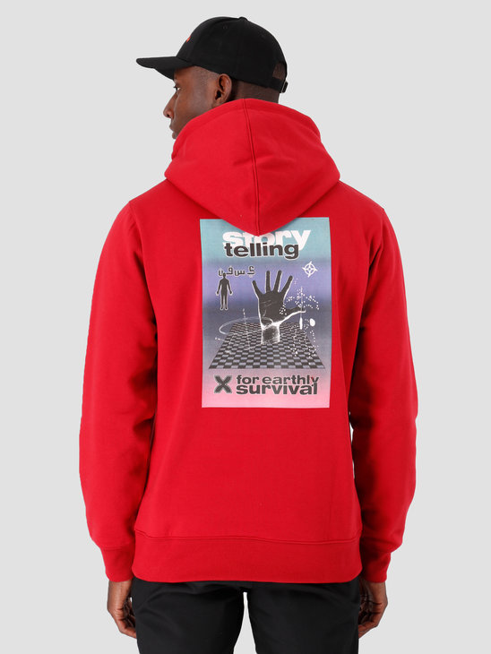 Daily Paper Gario Hoodie Rio Red 19F1HD07-01