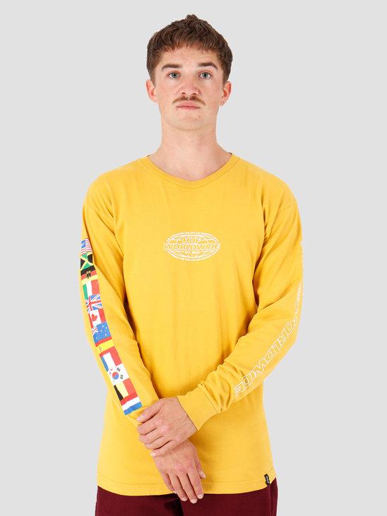 HUF World Tour Longsleeve T-Shirt Sauterne TS00785-STRNE