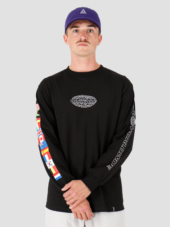 HUF World Tour Longsleeve T-Shirt Black TS00785-BLACK