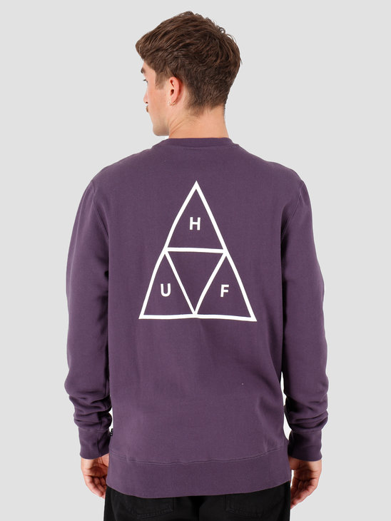 HUF Essentials TT Crew Purple Velvet PF00101-PRPLV