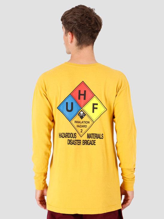 HUF Hazard Longsleeve T-Shirt Sauterne TS00873-STRNE