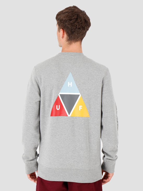 HUF Prism Crew Grey Heather PF00173-GYHTR
