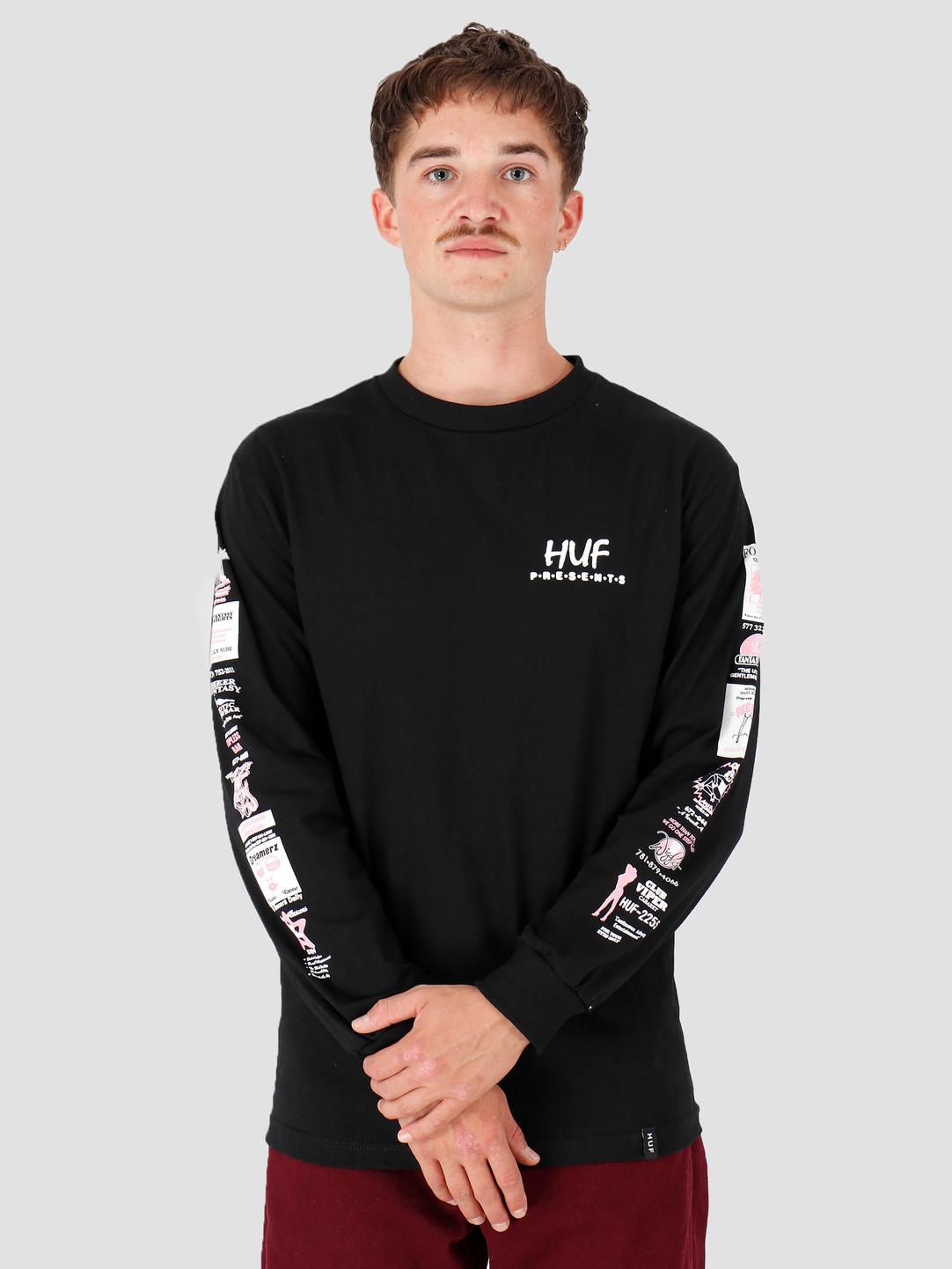 HUF HUF Pitstop Longsleeve T-Shirt Black TS00784-BLACK