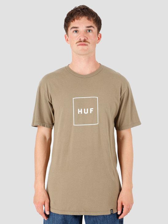 HUF Essentials Box Logo T-Shirt Dried Herb TS00507-DDHRB