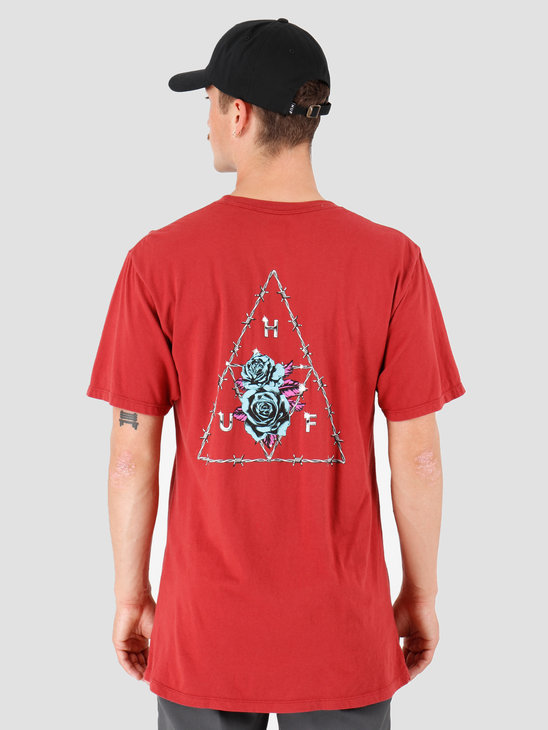 HUF Dystopia TT T-Shirt Rose Wood Red TS00793-RWRED