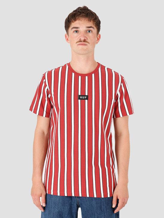 HUF Dexter Stripe Knit Top Rose Wood Red KN00116-RWRED
