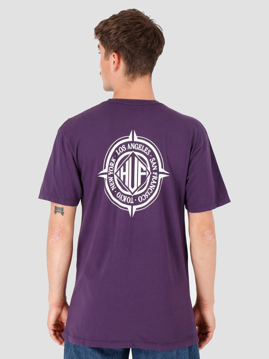 HUF Coordiantes T-Shirt Purple Velvet TS00974-PRPLV